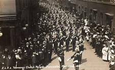 Yeomanry Church Parade Doncaster May 22nd 1910 RP pc used 1910 Scrivens ELS