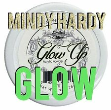 MINDY HARDY WHITE GLOW UP GLOW IN THE DARK ACRYLIC POWDER 1OZ JAR NEW FREE SHIP