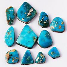 100 Ct LOT NATURAL Old BLUE GEM Turquoise Cabochon Cab Lander County Nevada A8-6