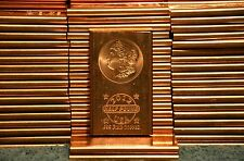 .999 Fine Copper Bullion Bars Lot, US Morgan Head Set, 1/2 LB!