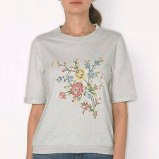 GORGEOUS CATH KIDSTON RAINBOW ROSE EMBROIDERED SWEATSHIRT TOP - SMALL - BNWT!