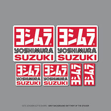 SKU2412 - 6 x Yoshimura Exhausts - Suzuki -  Decals - Stickers