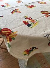 Vintage Mexican Party Theme Square Tablecloth 48 X 48