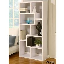 Cabinet/Bookcase Stylish Contoured Book Shelves Horizontally/Vertically Wood