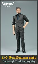 "VORTOYS V1002 1/6 model Dark grey male gentleman suit set F 12"" action figure"
