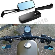 Black Motorcycle Rearview Mirrors For Harley Davidson XL Sportster 1200 Custom