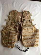 Tactical Load Carrying Chest Rig Vest Desert British Army Paintball One Size