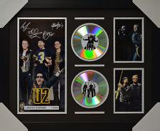 U2 SIGNED MEMORABILIA FRAMED 2 CD LIMITED EDITION V1 2016 #A