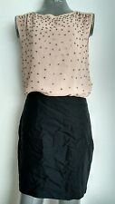 £225 REISS Georga party Dress With embellished crystals size 10 Silk Blend