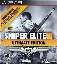 SNIPER ELITE III ULTIMATE EDITION PS3 ACTION NEW VIDEO GAME
