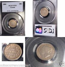 1884  10 Cents CANADA  KM# 3 .LOWEST MINTAGE  of 150,000 FROM 1858-1901