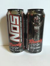 Nos Energy Drink Rowdy New 2016 Flavor. 2 Total 16oz Cans Full Kyle Busch Nascar