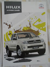 Toyota Hilux Xtra Cab brochure Jan 2011 South African market