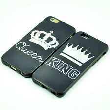 King and Queen Crown Couple Matching Soft TPU Case Rubber Cover For iphone 6 6s