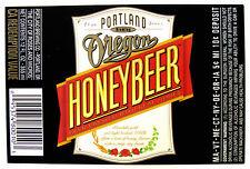 Portland Brewing Co OREGON HONEY BEER paper beer label OR 12oz