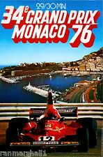 1976 Monaco 34th Grand Prix Automobile Race Car Advertisement Vintage Poster