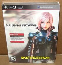 PS3 Lightning Returns Final Fantasy XIII Steelbook New Sealed + 2 DLC