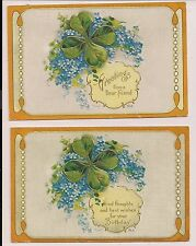 Set of 2 Forget Me Not Birthday Greetings with Clover Nash Series No 18