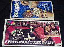 Vintage Boggle Scrabble Sentence Cube Game Lot Word Games
