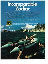 PUBLICITE ADVERTISING  054  1978  ZODIAC  bateau pneumatique