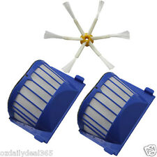 2 AeroVac Filter + 1X 6-armed Brush for iRobot Roomba 600 Series 620 630 650 660