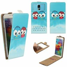 Mobile Flip Cover With Card Holder For MEDION LIFE E5005 M - Cartoon Bird M FLIP