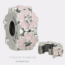 Authentic Pandora Sterling Silver Pink Primrose Clear CZ Clip 791823EN68