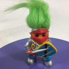 "Troll Vtg M.T. China 1992 Knight In Shining Armour  5 "" Green Hair Spiral Eyes"