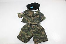 Build A Bear Clothing Military Green Brown Digital Camouflage Outfit Beret USA