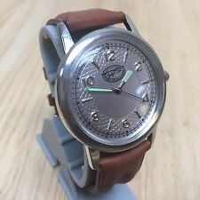 Spirit Of St Louis Men Hot Style Leather Analog Quartz Watch Hours~New Battery