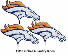 DENVER BRONCOS 2016 SUPERBOWL CHAMPS SET OF (3) IRON/SEW ON PATCHES