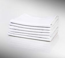 1 NEW HOTEL LINEN WHITE PILLOW CASE COTTON BLEND STANDARD SIZE T180 PERCALE
