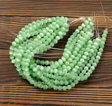 New 30Pcs 6mm Round Natural Green Opal Cat's Eye Beads Loose Spacer Beads