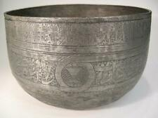 Antique Islamic Bowl. Large Tinned Copper with Mamluk Decorations.   (842)