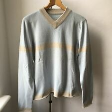 Very Cool Lucien Pellat -finet pure cashmere V neck jumper Sz M