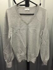 Barrie Women Jumper Grey Warm Pure New Wool Thin Knit Size 10 (3)