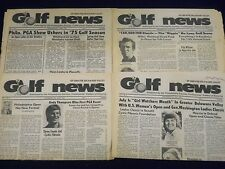 1975-1976 GOLF NEWS OF GREATER DELAWARE VALLEY NEWSPAPER LOT OF 8 - NP 1838