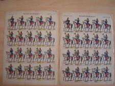 Lot de 2 images d'EPINAL  MUSIQUE DE DRAGONS Cor Militaires Planche numéro 162