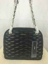 Brand New Black DKNY Authentic Designer Leather Dome Cross Body Bag RRP £205