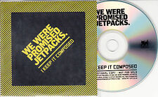 WE WERE PROMISED JETPACKS I Keep It Composed 2014 UK 1-track promo test CD + PR