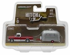 Greenlight Hitch & Tow 1968 Chevy C-10 & Airstream 16' Bambi Trailer 1:64 Scale