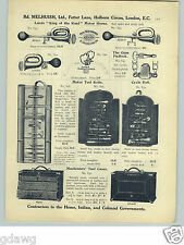 1913 PAPER AD King Of The Road Car Automobile Bulb Horn Horns Tool Roll Kits