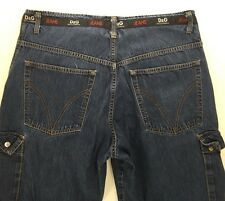 "VINTAGE MENS D&G Dolce & Gabbana Cargo Jeans sz 36 (31"" Inseam) #9008"