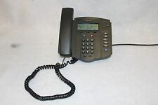 LOT OF 10 Polycom Soundpoint IP 301 SIP VoIP Phone W/LAN/Power Cable IEE