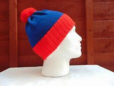 BOBBLE HATS  ( UNISEX )  RED / ROYAL BLUE -  STAN SOUTH PARK STYLE