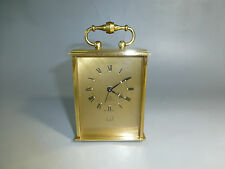 "RARE Vintage Swiss ""DUNHILL""  8 Day Carriage Alarm Clock 15 Jewels (Watch Video)"