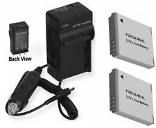 TWO Batteries + Charger for Canon Digital IXUS 85 IS 95 IS 105 IS 200 IS 210 IS