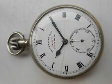 ANTIQUE VINTAGE COLLECTIBLE SWISS ZENITH FAVRE LEUBA GERMAN SILVER POCKET WATCH