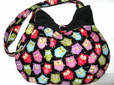 HOBO BAG WITH SLEEPY OWLS, HANDBAGS AND PURSES WITH OWLS, SHOULDER BAGS