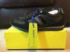 VERSACE JEANS LINEA LOGO TRAINERS IN BLACK UK 11 EU 45